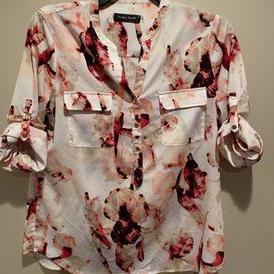 Ivanka Trump Floral LS Blouse (L)